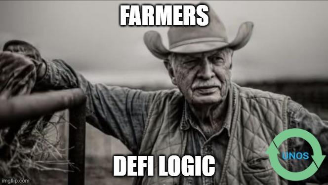 unos farming defi logic